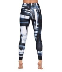 Brush Paint Legging - Blue Multi