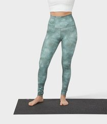 Essence Legging Printed - Camo Tie Dye Greens