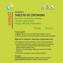 Tabletki do zmywarki eko - 1.6kg