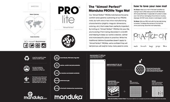 Mata do jogi Manduka PRO Lite 4.5mm - Thunder - seria Almost Perfect