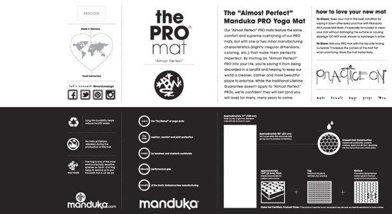 Mata do jogi Manduka Pro 6mm - Black - seria Almost Perfect