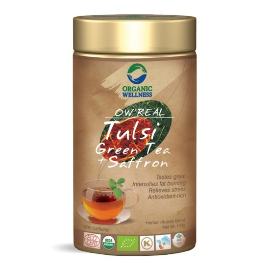 Ow Real Green Tea + Saffron 100g - sypana