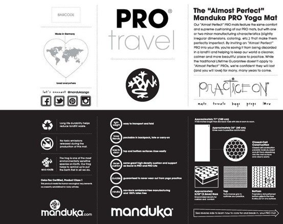 Podróżna mata do jogi Manduka PRO Travel - Indulge - seria Almost Perfect